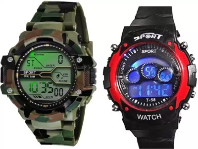 blutech BOYS AND KIDS STYLISH WATCHES COMBO 07 Digital Watch  - For Men