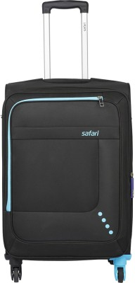 Safari STAR 55 4W BLACK Expandable  Cabin Luggage - 22 inch
