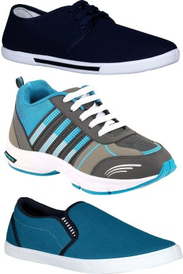 Chevit Combo Pack of 3 Casual & Sports Shoes (Sneakers & Running Shoes) Sneakers For Men