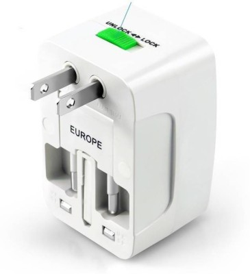 Zeom World International All in One Universal Worldwide Adaptor Worldwide Adaptor  (White) Worldwide Adaptor