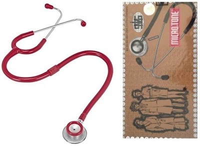 MSI Original Microtone Burgundy Stethoscope with Black and Pink tube with Ear Piece and Diaphragm Acoustic Stethoscope Acoustic Stethoscope