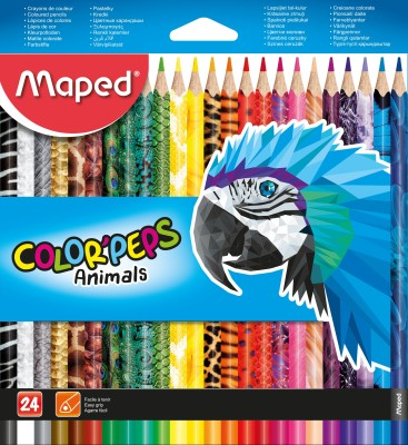 Maped DECORATED COLOR PENCIL 24 TRIANGULAR Shaped Color Pencils