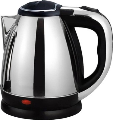 Mezire ™ Cordless - 7 Cup Hot Water Tea Coffee Electric Kettle  (1.8 L, Silver) Electric Kettle