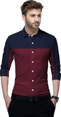 Tripr Men Color Block Casual Multicolor Shirt