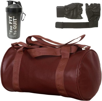 5 O'Clock Sports 2019 Leather Gym Accessory Combo (Brown) Gym & Fitness Kit