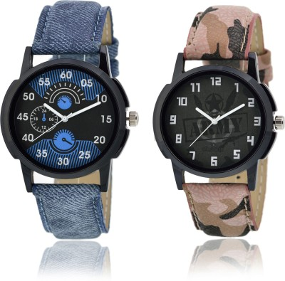 Frolik 02-03 Stylist Design Formal Collection Blue And Militry Look Color Men And Kids Analog Watch  - For Men