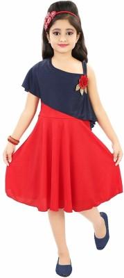 NIKUNJ Girls Midi/Knee Length Casual Dress