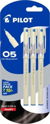 Pilot Hi-Techpoint 05 Super Value(Pack of 3 )Blue Roller Ball Pen