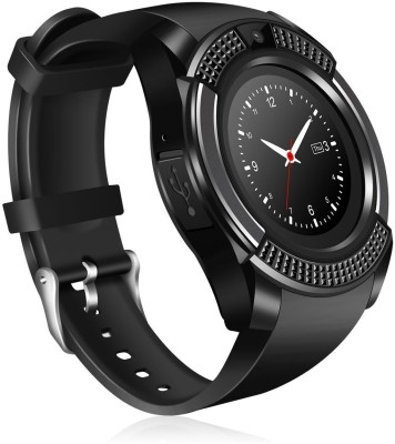 Roboster V8 Touch Screen Smart Watch with Camera Black Smartwatch