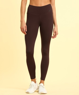 Nike Solid Women Brown Tights