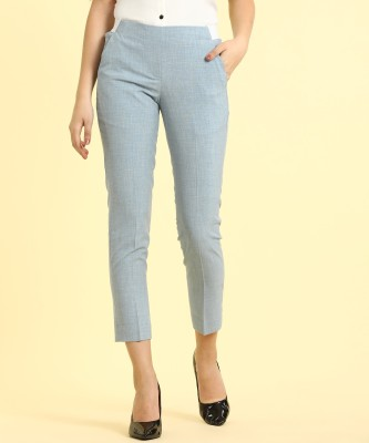 Van Heusen Regular Fit Women Blue Trousers