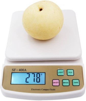 TOPSELF Digital 10kg x 1g Kitchen Scale Balance Multi-purpose weight measuring machine SF 400A Weighing Scale