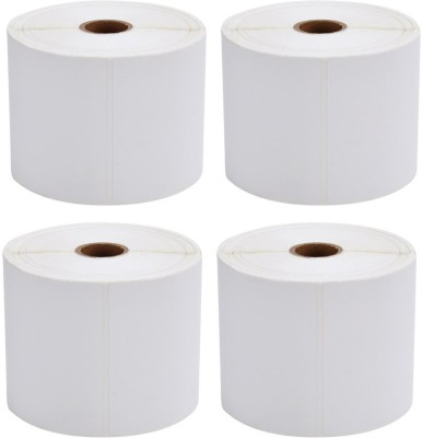 PagKis 2000 Direct Thermal Transfer Shipping Adhesive Labels 100 mm x 150 mm - 4 Packs - 500 labels in per pack - 4 x 6 Inches Permanent Paper Label