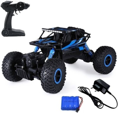 AsianHobbyCrafts Waterproof Remote Controlled Rock Crawler RC Monster Truck, 4 Wheel Drive, 1:18 Scale