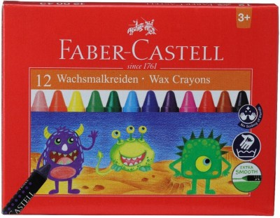 Faber-Castell 12 Wax Crayons (75mm)