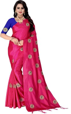 Villagius Embroidered, Self Design Fashion Poly Silk Saree