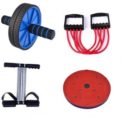Adonyx ULTIMATE Tummy trimmer, Tummy twister, Ab wheel and muscle building chest expander Home Gym Kit