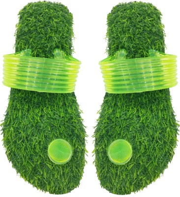 ADJ Double Soft Comfortable Grass Eva Rubber Healthy Slippers For Men's And Boy's Slides