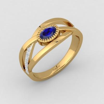 ShipJewel Royal-Sapphire Ring-14KT Gold-8 14kt Diamond, Sapphire Yellow Gold ring