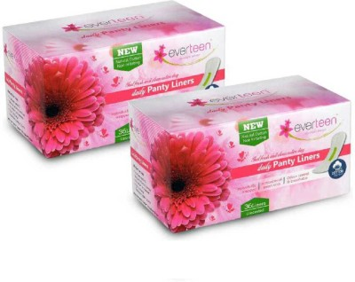 everteen 100% Natural Cotton Top Daily Pantyliner