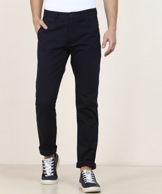 Peter England University Slim Fit Men Dark Blue Trousers