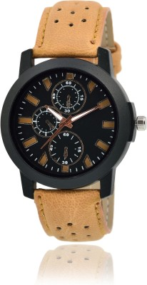 MF Attractive New Design Popular Brown Leather Strap Kids And Men Analog Watch  - For Boys