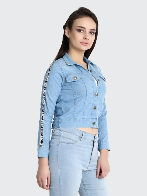 BuyNewTrend Full Sleeve Ombre Women Denim Jacket