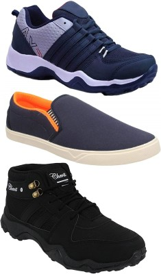 Chevit Combo Pack of 3 Casual Shoes (Loafers Shoes) Running Shoes For Men