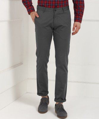 Numero Uno Regular Fit Men Grey Trousers