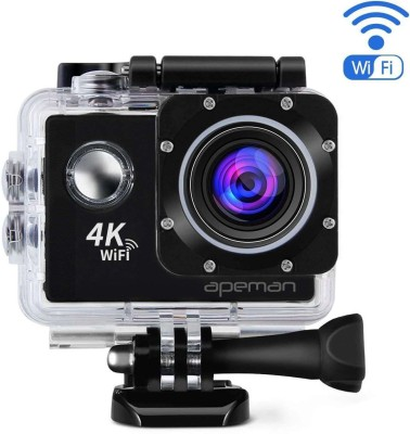 ALONZO 4kaction camera WiFi Sports Camera 2 .0 inch LCD Display HD 4K 12MP 170D Wide Angle Full HD Lens Underwater 98FT 30m Sports and Action Camera