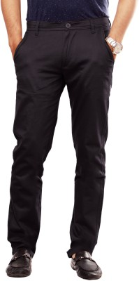 Uber Urban Slim Fit Men's Black Trousers