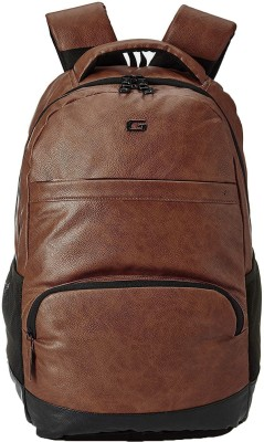 Gear VINTAGE2 ANTI THEFT FAUX LEATHER 28 L Laptop Backpack