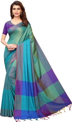 HITESH ENTERPRISE Color Block Fashion Cotton Silk Saree