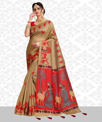Divastri Printed Fashion Cotton Blend Saree