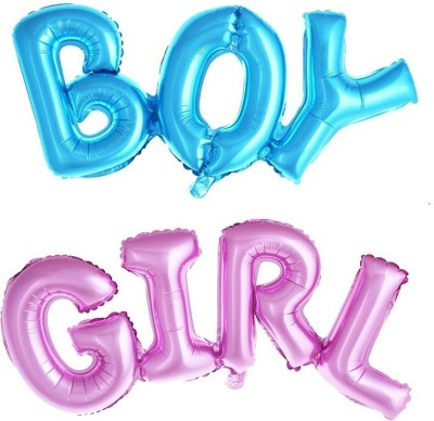 Tiank Innovation Solid Tiank Innovation BOY & GIRL Alphabet Foil Balloon /Baby Shower /Its a Girl/Its a Boy/ Baby Boy/Baby Girl Foil Balloon (27 Inch/ 68cm) for Baby Shower Party Decoration/Theme for Baby Shower Party Supplies (Pack of 2) Balloon