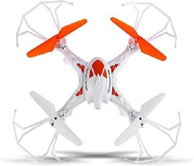 JK INT Lh-x16 Drone Quadcopter 4-ch 2.4ghz Remote Control with 6-axis Gyro (White, Orange)