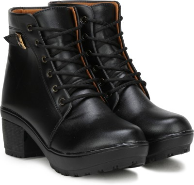FASHIMO 777-black Boots For Women