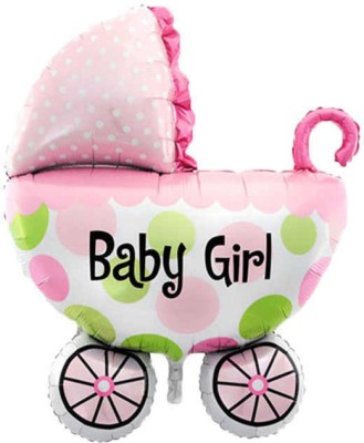 Tiank Innovation Printed Cradle,Cradle Shape Foil Balloon ,Baby Girl ,Its a Girl Foil Balloon (27 Inch/ 68cm) for Baby Shower Party Decoration/Theme for Baby Shower Party Supplies (Pack of 1) Balloon
