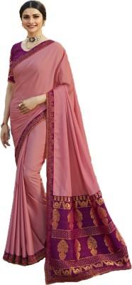 THE RED LION ENTERPRISE Self Design Fashion Poly Silk Saree