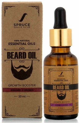 Spruce Shave Club Beard Growth Oil For Men - 100% Natural Hair Oil