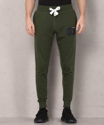Metronaut Applique Men Green Track Pants