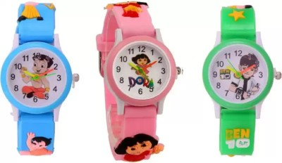 blutech stylish new generation kids combo 2019 pack of 3 Analog Watch  - For Boys & Girls