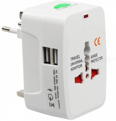 Unique4Ever Universal Worldwide Travel Adapter Plug 2 USB Charging Port surge Protector All in One Worldwide Adaptor
