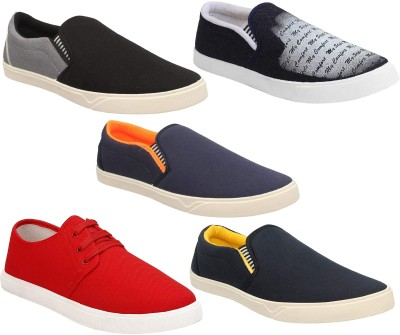 Chevit Combo Pack of 5 Casual Shoes (Loafers Shoes) Sneakers For Men