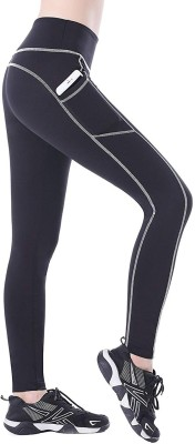 Blinkin Solid Women Black, White Tights