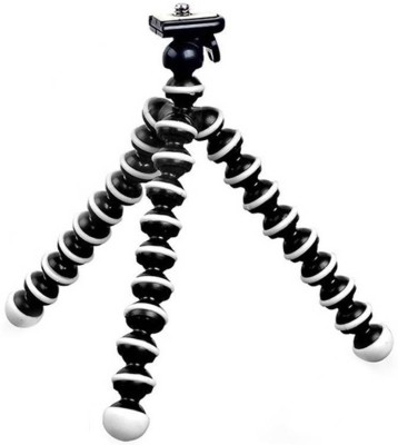Mobone ™ 10 inch Lightweight Flexible Gorillapod Tripod With Mobile Attachment For DSLR, Action Cameras , Digital Cameras & Smartphones - Black Tripod