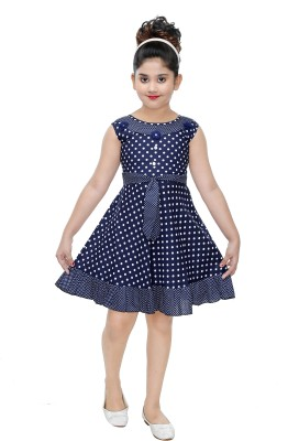 N BAHUBALI Girls Midi/Knee Length Casual Dress