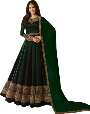 Vaidehi Fashion Faux Georgette Embroidered Salwar Suit Material