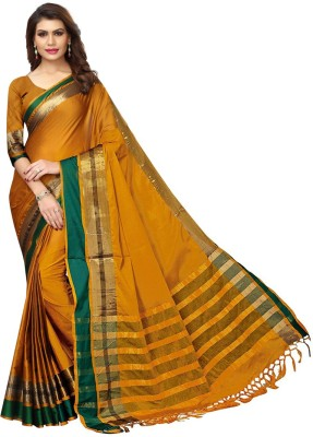 V J Fashion Self Design Fashion Cotton Blend Saree