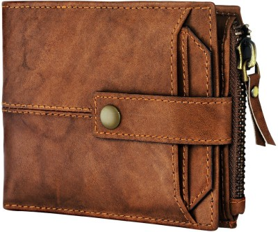 Spiffy Men Brown Genuine Leather Wallet